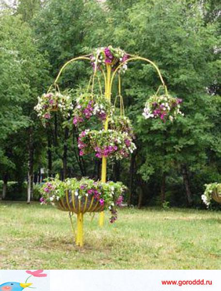 Подставка под цветы на улицу своими руками