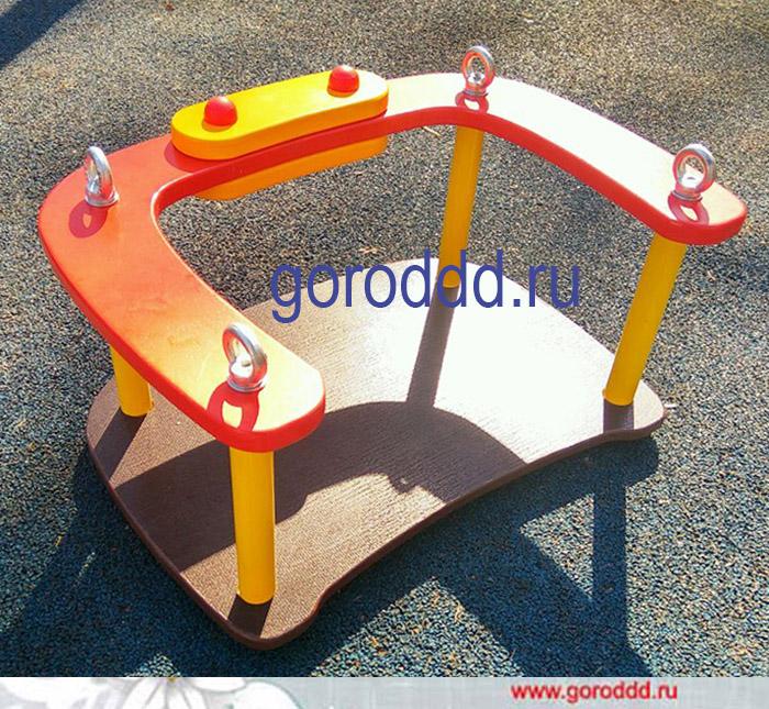 Сидение со спинкой для детских качеляй на цепях