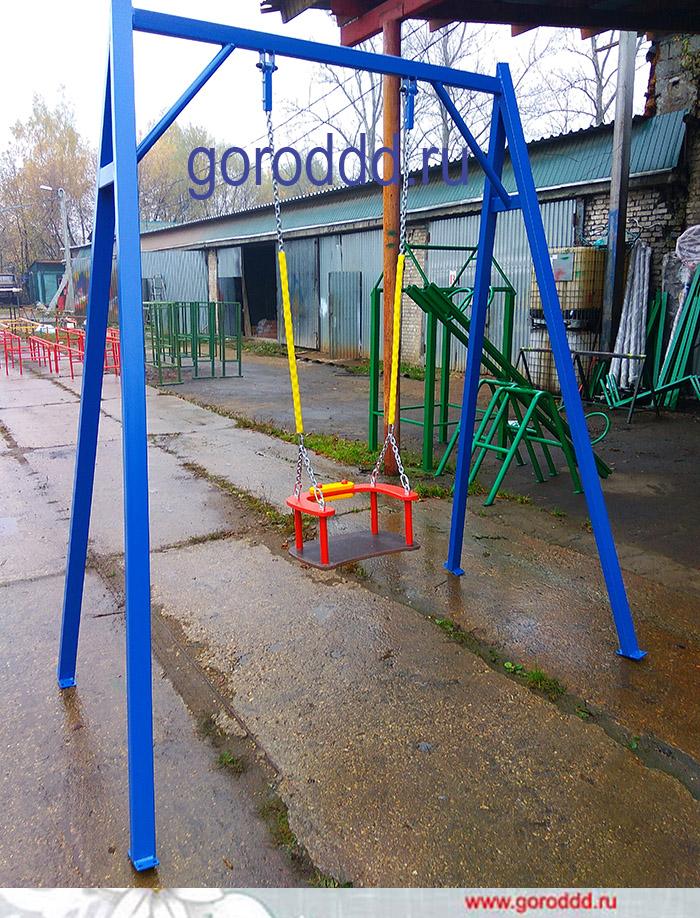 Детские качели на цепном подвесе для детских площадок